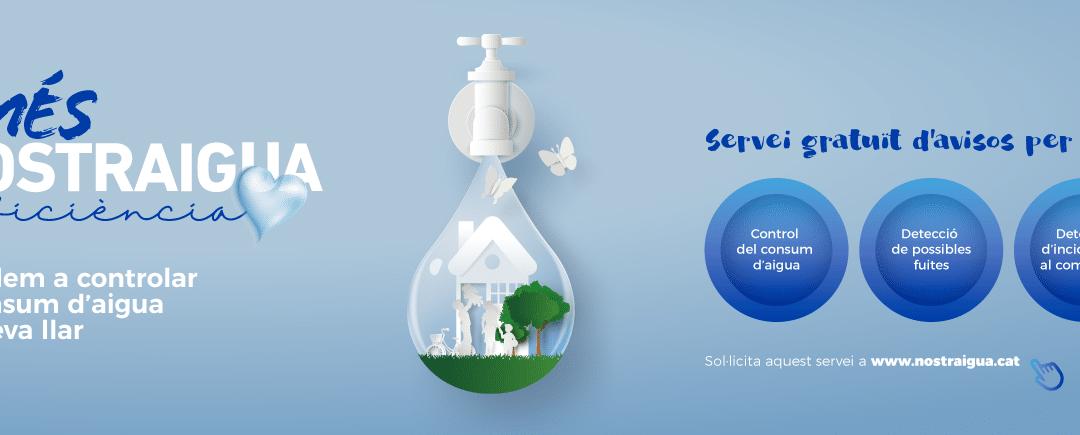Nostraigua fomenta el ahorro de agua con el Servicio de alertas de consumo